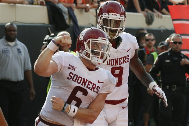 No. 2 Oklahoma stakes playoff spot, 41-17 over No. 10 TCU